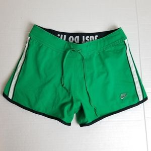 NIKE Fit Dry built in briefs green running shorts